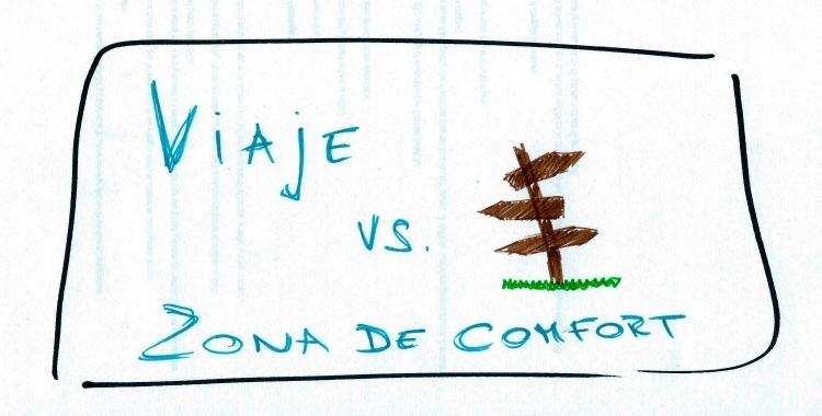 viaje vs zona de comfort viñeta